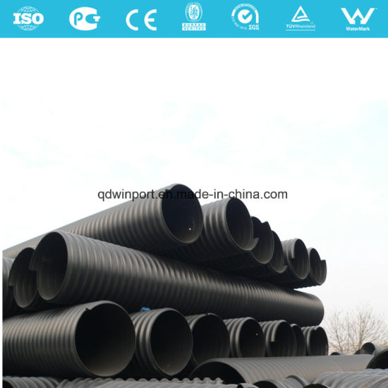 Steel Strip Reinforced HDPE Spiral Corrugated Pipe for Drainage pictures & photos
