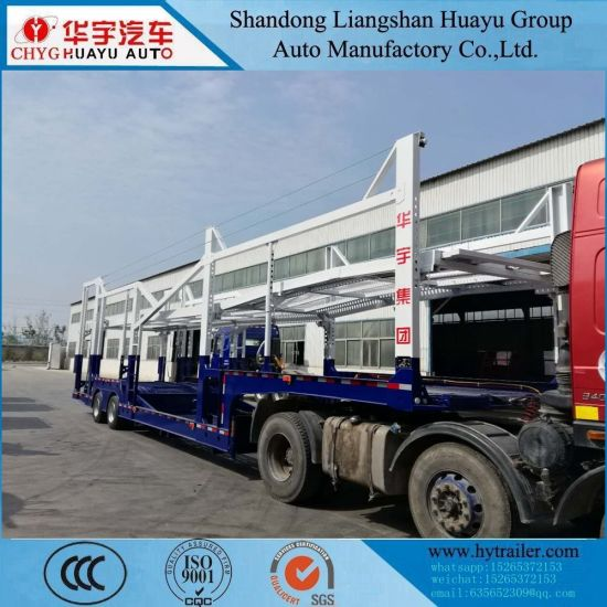 Car/SUV/MPV/Wagon/Pickup Truck Carrier Semi Trailer with Two 16t Axle
