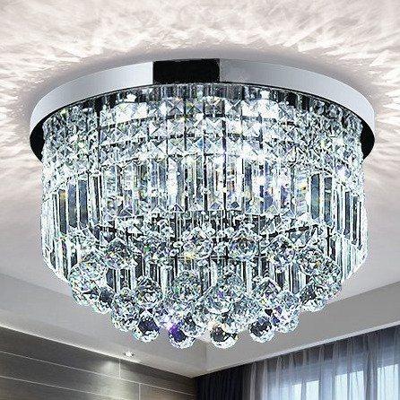 Modern Rain Drop LED K9 Crystal Chandelier Pendant Light Dining Room Lighting