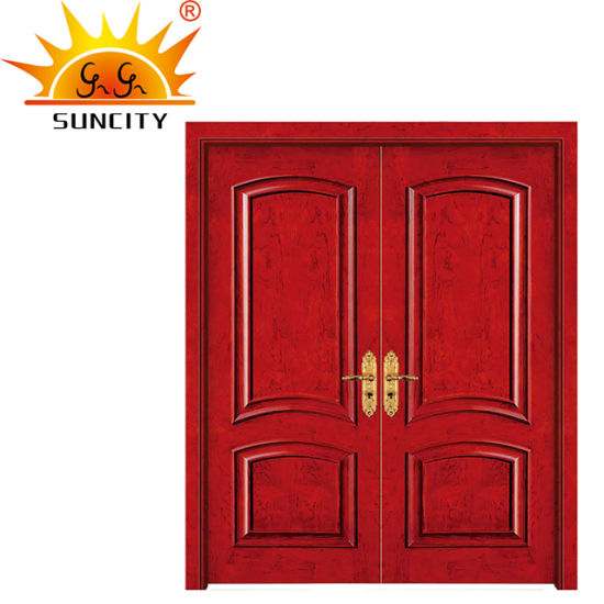 Luxury Simple Design Commercial Residential Exterior Wooden Double Doors