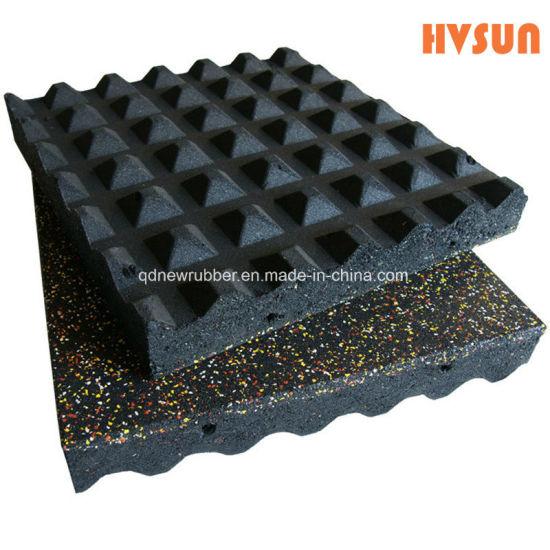 China 500mmx 500mmx 25mm Rubber Playground Flooring