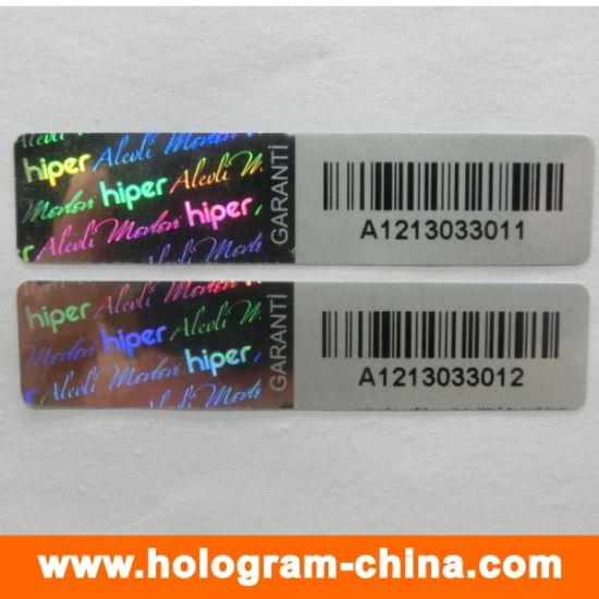 Security Anti-Fake Barcode Hologram Stickers pictures & photos