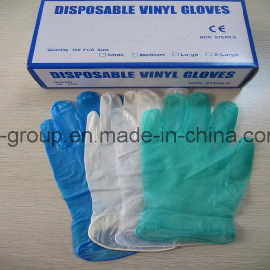 Disposable Powder Free/Powdered Vinyl Gloves for Janitorial pictures & photos