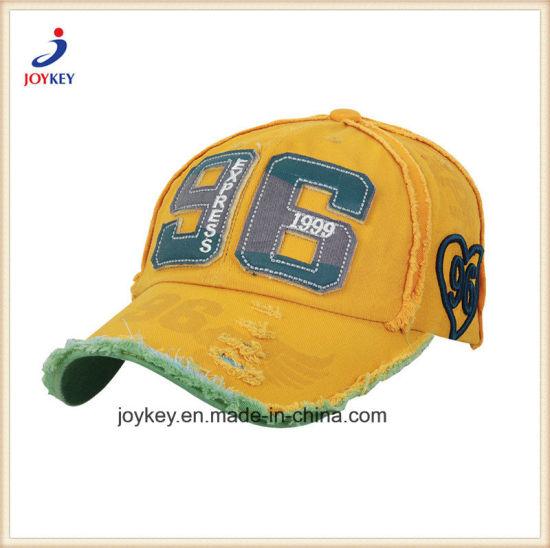 Fashion Custom Cotton Sports Cap, Washed Cap, Baseball Cap