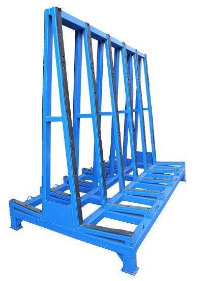 Glass Shelf Storage Rack Glass Transportation Pallet Roller Pipe Warehouse Storage  Rack