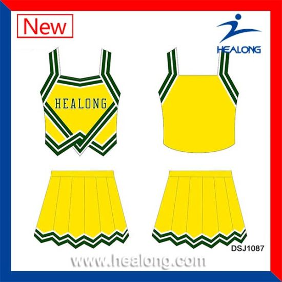 Healong Sportswear Non Brand Dye Sublimation Girls Cheerleading Uniforms pictures & photos
