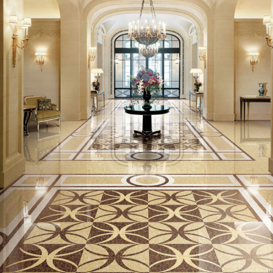 China Butterfly Gold And Black Polished Porcelain Floor Ceramic