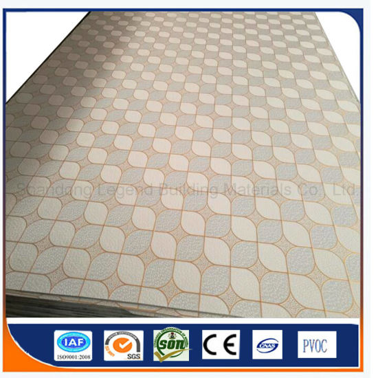 595x595mm Pvc Gypsum Ceiling Tiles Board