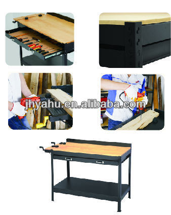 Single Drawer DIY Strong Bearing Workbench for Woodworking (YH-WT007) pictures & photos