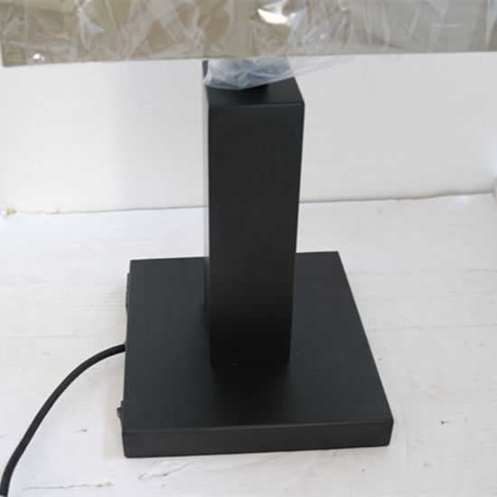 Hotel Decorative Matt Black Bedside Table Lamp with 2PCS USB pictures & photos