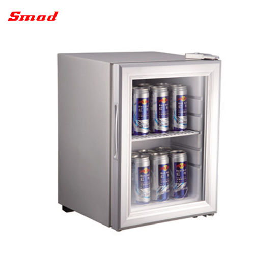 China Table Top Glass Door Storage Display Mini Fridge Showcase