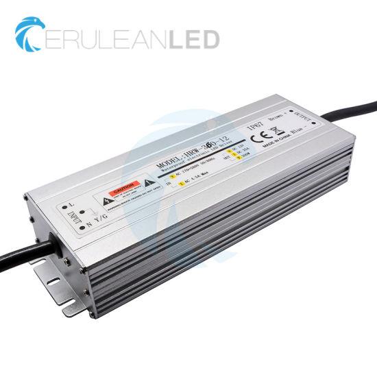 20W 30W 50W 60W 80W 100W 120W 150W 200W 250W 300W 360W IP67 Waterproof LED Power Supply