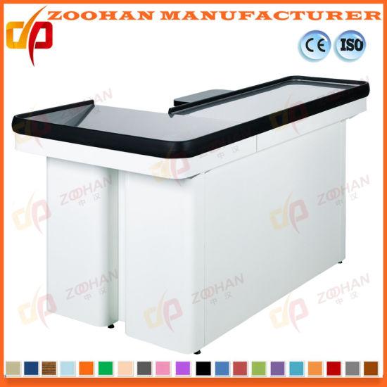 Retail Store Supermarket Money Cash Checkout Counter Cashier Desk (Zhc51)