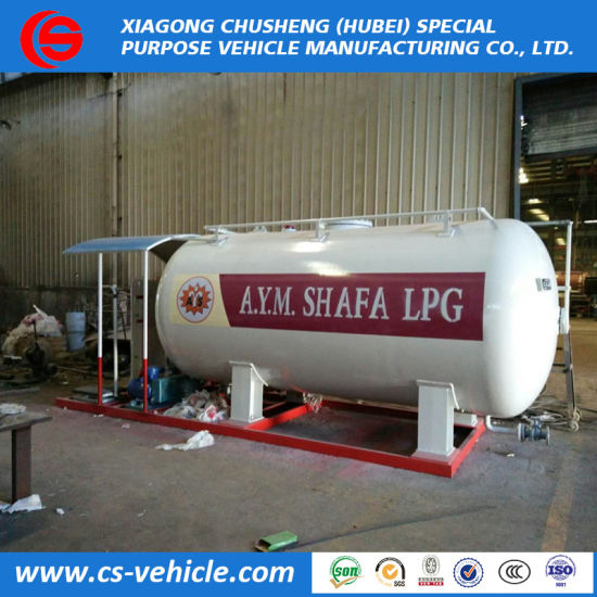 20m3 20000liters 10tons LPG Tank Skid with Double Filling Nozzles