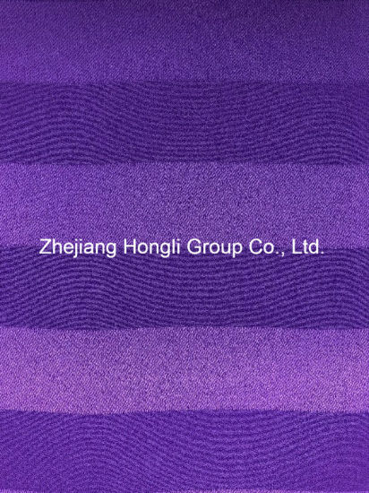 Striped 100% Polyester Cation Fabric for Ladies′ Garment pictures & photos