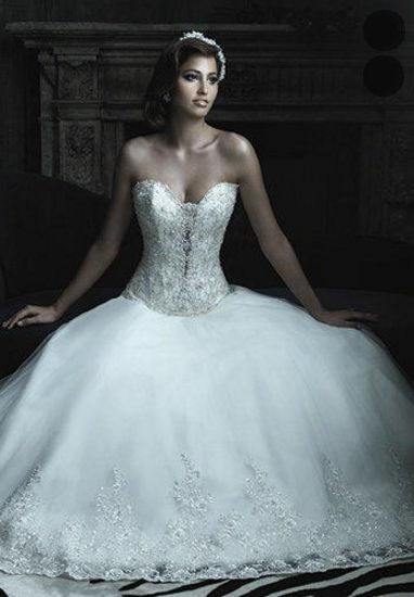 Dream Wedding Strapless Sweetheart Bride Dress (Dream-100027)