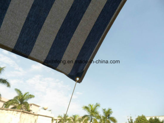 Steel Pole Support Beach Stripe Cotton Canopy Sun Shelter pictures & photos