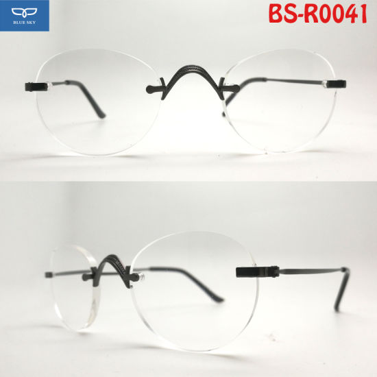 9a6fd0447bd6 New Design Reading Glasses Spectacle Metal Round Lens Shape Frame with  Super Slim Temple Good Quality for Men Cheap Price
