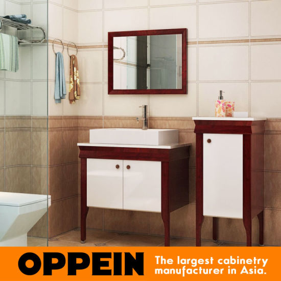 China Oppein Modern Tempered Glass Top Bathroom Cabinets Op15 119b