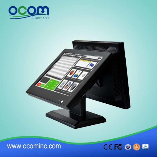 "15"" Dual Screen Touch Screen Monitor LCD Display All in One PC POS Terminal pictures & photos"