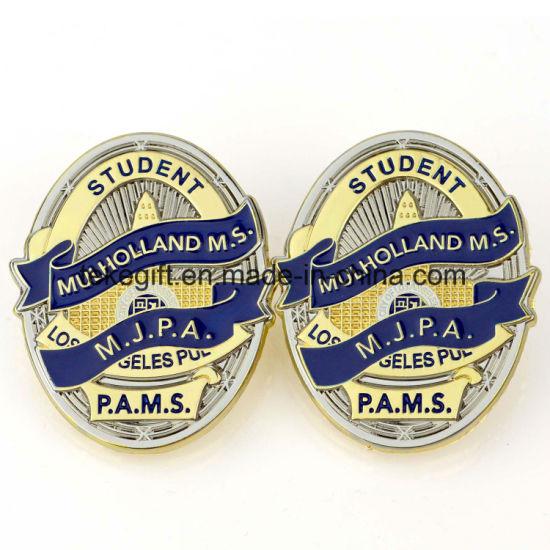 Metal Badge Maker Wholesale Enamel Custom Logo Sheriff Military Metal Pin  Badge