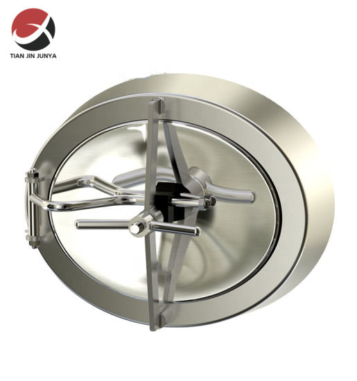 High Quality OEM Manufacturer Sanitary Stainless Steel 304 316 Inwards Opening Elliptical Manways Used in Water/ Beverages / Milk/ Red Wine Tank Accessories