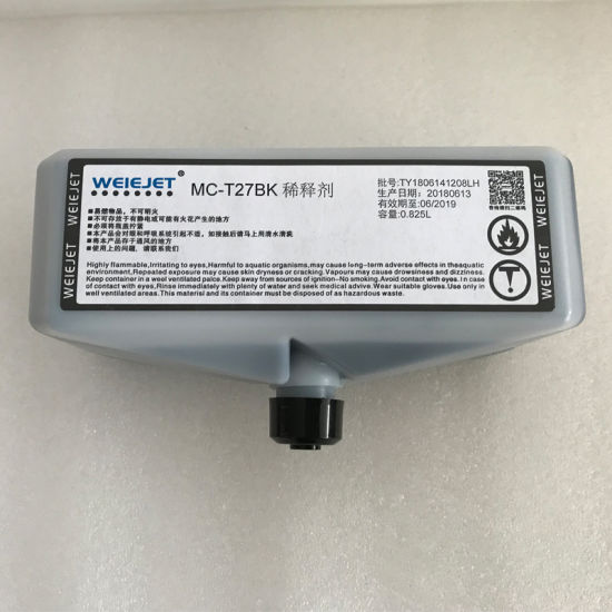 Solvent Ink Mc-T27bk Aqueous Ink Water-Based Ink for Continuous Inkjet Printer