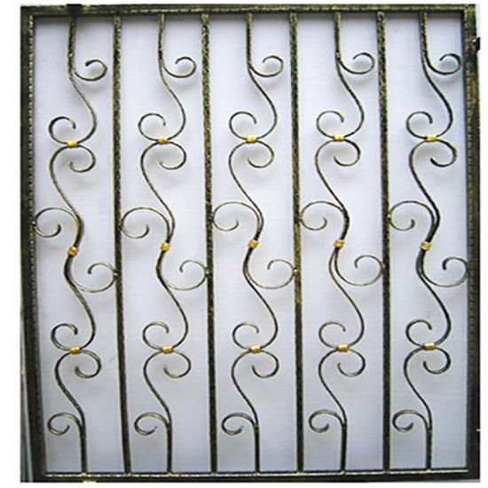 Wrought Iron House Security Windows Grill Design Steel Grilles Foshan China Made China Security Window Grilles Windows Grill Design