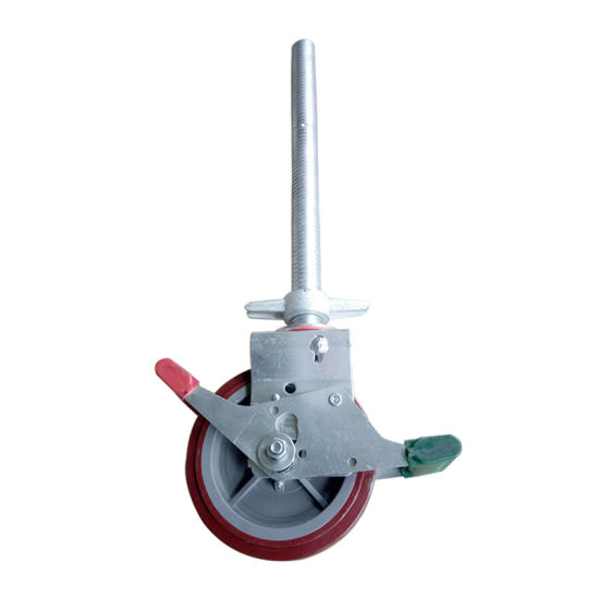 ANSI & AS/NZS Certified Layher All Round Ringlock 8'' Scaffolding Caster Wheel Scaffold for Construction