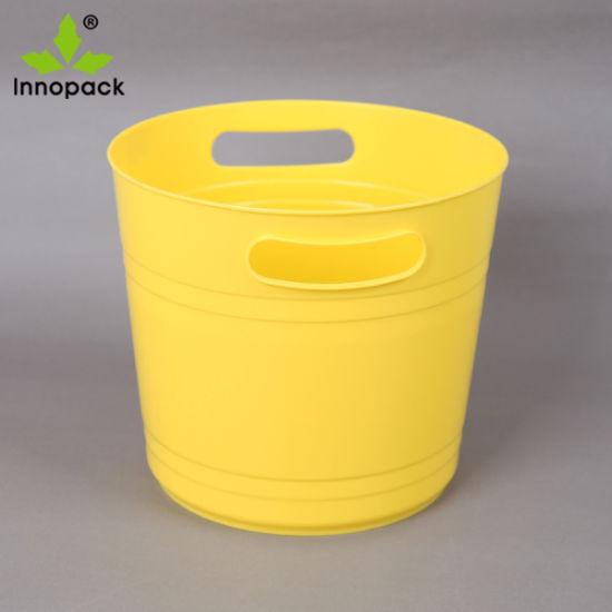 China Factory 6L Volume Transparent Color Plastic Ice Bucket for Champagne Holder