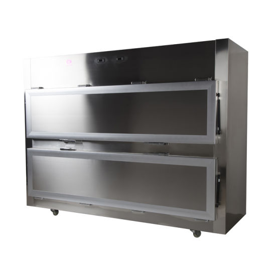 Roundfin Morgue Corpse Refrigerator 2-3 Bodies Side Open Door Style Mortuary Freezer