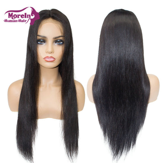 100% Best Remy Hair Straight Lace Front Wig Human Natural Hair
