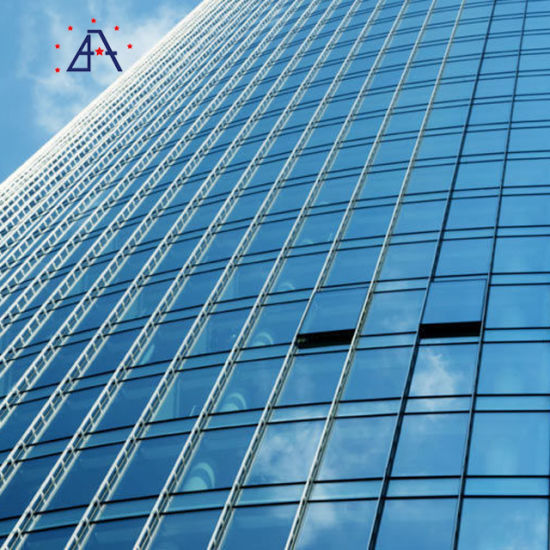 Commercial Building Sound Heat Insulation Aluminum Glass Curtain Wall