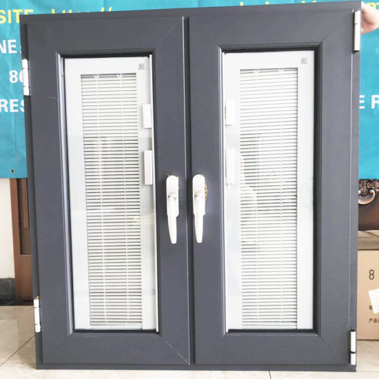 Australia Building Material House Used Aluminium Metal Double Glass Glazed Casement Doors and Windows Hurricane Impact Top Hung Turn Window Guangzhou Foshan