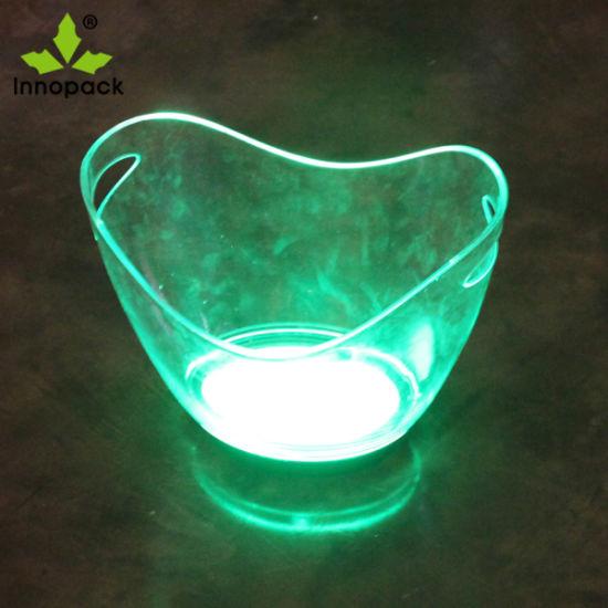 Plastic Ice Bucket with Tong Portable Ice Bucket