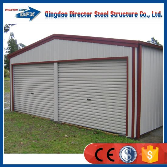 Superb Low Cost Portable Construction Steel Frame Soundproof Car Garage With Sandwich  Panel Door