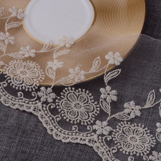 Vintage Embroidery Mesh Organza Lace