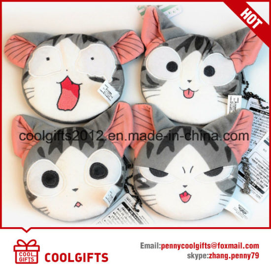 Promotional Animal Shape Key Chain Plush Coin Purse / Mini Card Bag pictures & photos