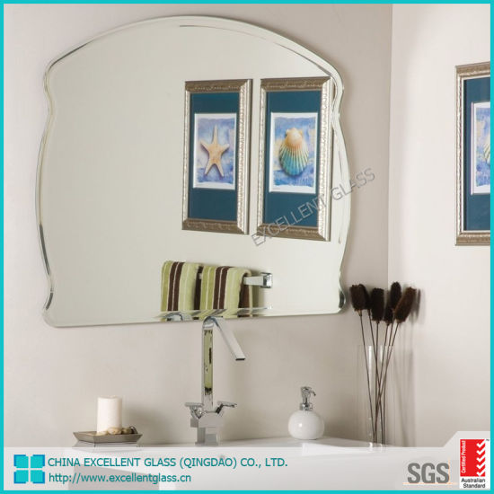 China Modern Hotel Style Hanging Wall Bathroom Decorative Mirror Waterproof Oem Mounted Without Frame