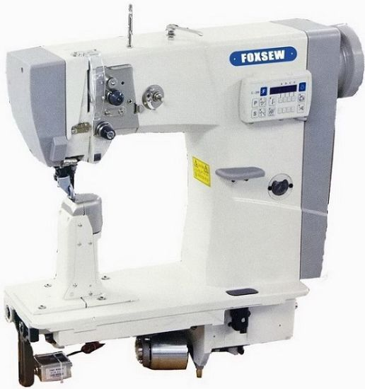 China Automatic Roller Feed Post Bed Sewing Machine With Thread Gorgeous Automated Sewing Machine Co Ltd