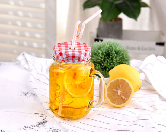 Glass Mason Jar with Handle for Drinking Purpose pictures & photos