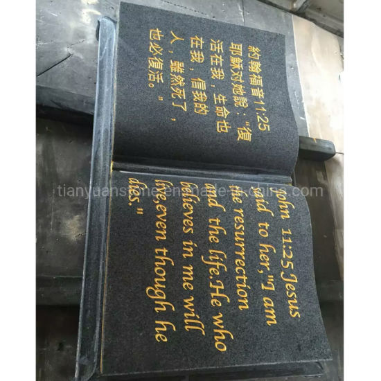 Chinese Granite Open Book Shape Headstones for Graves pictures & photos