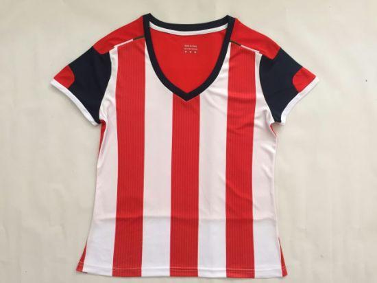outlet store 76209 37372 Cheap Wholesale Chivas Women Football Jersey Red Soccer Uniforms