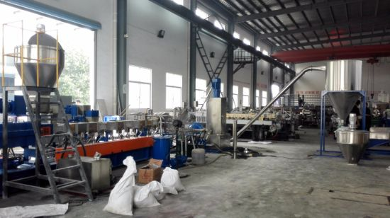 Plastic Polythene Pellet Horizontal Water Ring Extrusion Machine pictures & photos