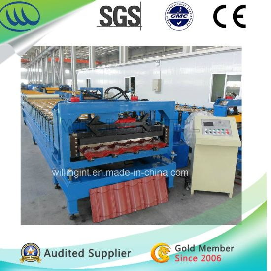 Steel Sheet Roof Tile Roll Forming Machine Line China
