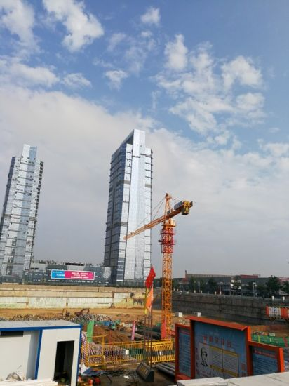 Qtz100 Self-Erecting Tower Construction Building Crane pictures & photos