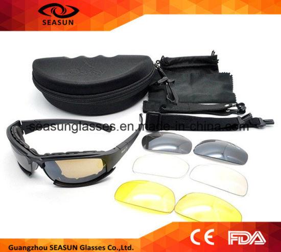 0bada5e606 Tactical CS7 X7 Glasses Military Goggles Bullet-Proof Army Sunglasses with  4 Lens Original Box Men Shooting Eyewear