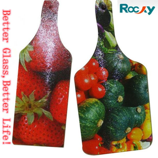 Diffirent Shaped Glass Cutting Board for Vegetables