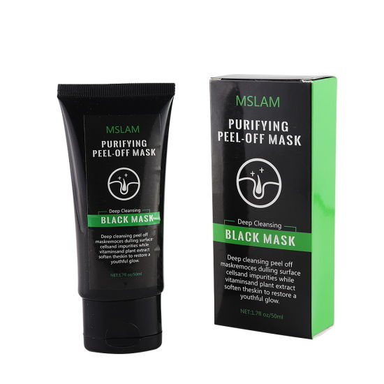 50ml Charcoal Pore Deep Cleansing Purifying Acne Blackhead Remover Facial Peel off Black Face Mask