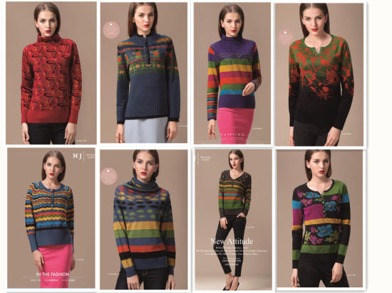 Factory Produced Wholesale Women Clothes Pattern Sweater